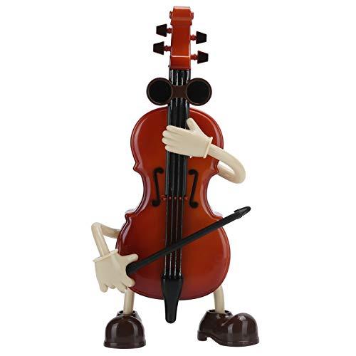 WAQU Caja de música-Caja de música para Violonchelo Caja de música Manual a Cuerda con Columpio Cello Niño Niños Cumpleaños