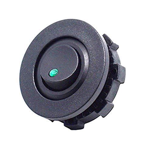 LHaoFY Accesorios de interruptores automáticos DIY Carro de coche ROWER ROOKER CURTANTE SPST ON-off Control con el interruptor de la carcasa verde rojo azul LED lightt (Color : Green)