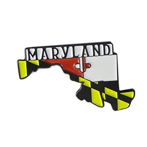 Maryland Old Line Edition State Shape of Maryland Enamel Lapel Pin (1 Pin)