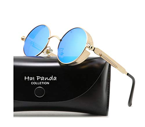 HatPanda Runde Polarisierte Retro Vintage Sonnenbrille für Männer Frauen