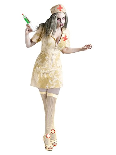 Fun World Women's Zombie Nurse, Multi, Medium/Large