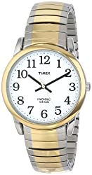 "Timex Men's T23811 ""Easy Reader"" Two-Tone Stainless Steel Expansion Bracelet Watch"