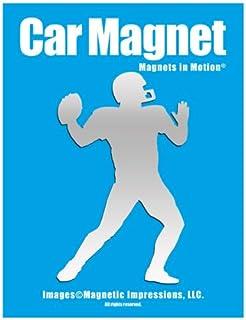 Football Player Car Magnet Chrome
