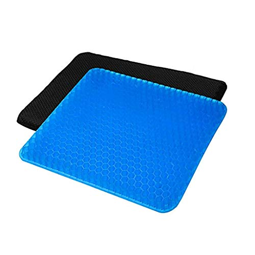 HXGL-Drum Gel Seat Cushion – Coccyx, Prostate, Sciatica, Bed Sores, Post-Surgery Pain Relief – Orthopedic Firm Seat Pad for Home, Office, Car, Wheelchair