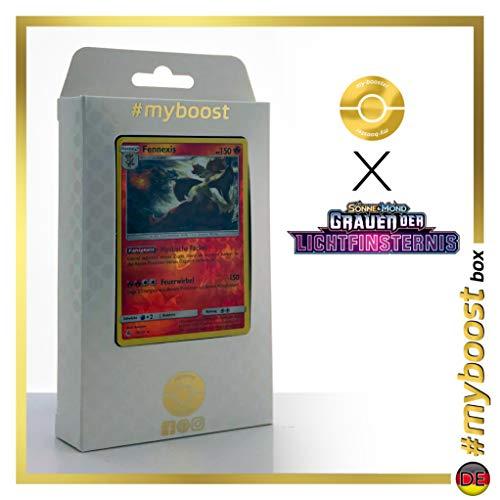 Fennexis (Goupelin) 17/131 Holo Reverse - #myboost X Sonne & Mond 6 Grauen der Lichtfinsternis - Coffret de 10 Cartes Pokémon Allemandes