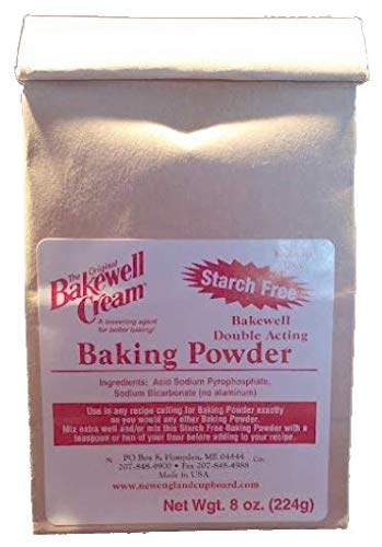 Bakewell Cream Starch Free Baking Powder 8 ounces