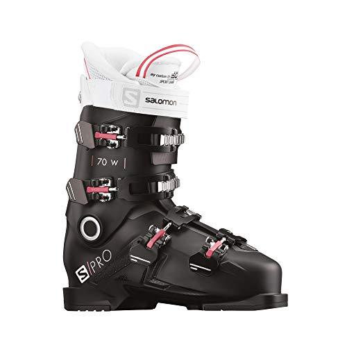 Salomon Damen Botas ALPINAS S/PRO 70 Ski-Stiefel, Black/Pink/Wh, 39.5 EU