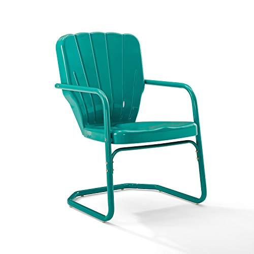 Crosley Furniture CO1031-TU Ridgeland Retro Metal Chair, Turquoise