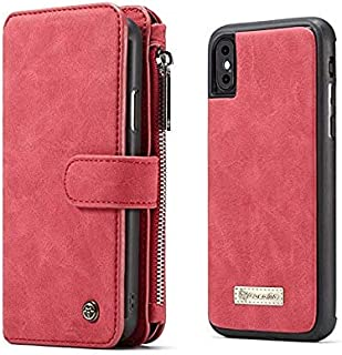 Iphone Xs Max phone shell Multifunctional leather wallet card pocket case Full Body Shockproof Anti fall Soft mobile phone...