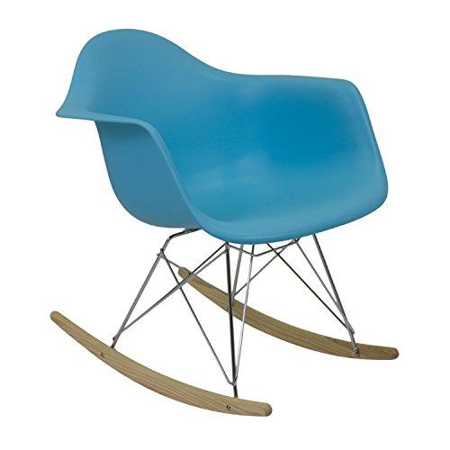 Vaukura Silla Inspiración Emms - Silla Mecedora Nórdica (Azul)