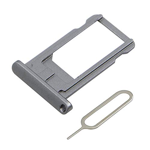 MMOBIEL SIM Karte Schlitten Tray kompatibel mit iPad 5 9.7 inch 2017 / Air 9.7 inch 2013 / Mini 1/2 / 3 7.9 inch (Space Gray) inkl SIM Pin
