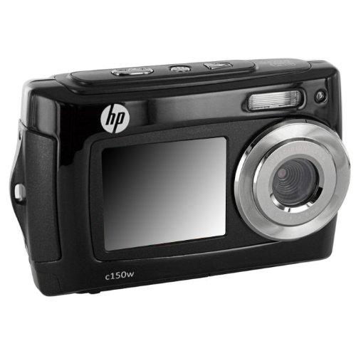 "HP C-150w - Cámara de fotos digital (16 Mpx, sumergible 3 m, pantalla de 2.7"", USB), color negro"
