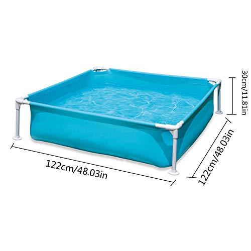 lennonsi Mini Frame Pool Aufstellpool mit Ablassventil, Stabiler und leicht aufbaubarer Kinderpool Oberirdisches Schwimmbad, zum Schwimmen Angeln, Mini tragbarer Rahmen Pool 122×122×30cm