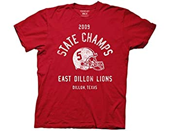 Ripple Junction Friday Night Lights Adult Unisex 2009 State Champs Light Weight 100% Cotton Crew T-Shirt MD Red