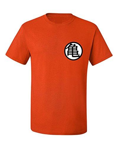 ALLNTRENDS Adult T Shirt Goku's Training Symbol Trendy Shirt Popular (XL, Orange)