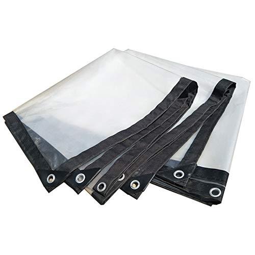 Lonas Transparentes Impermeables con Ojales,Lona Plástico 5 Mil Espesor,Cubierta Película Polietileno Aislamiento 130G/M²,para Balcón,Patio,Exterior,Toldos de Invernadero de Planta (3x6m/10x20ft)