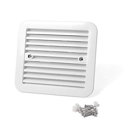 Ventilador de escape de ventilación lateral de salida de ventilación de nevera de 12 V blanco para caravana de remolque RV accesorios de estilo de coche RV