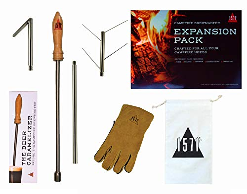 Casual Panache 1571F Campfire Beer Caramelizer Poking Tool (Full Accessory Kit) Novelty Beer Accessories for Camping & Home Brewing - Perfect Beer Gifts for Men, Women, Boyfriends, Holidays, Parties