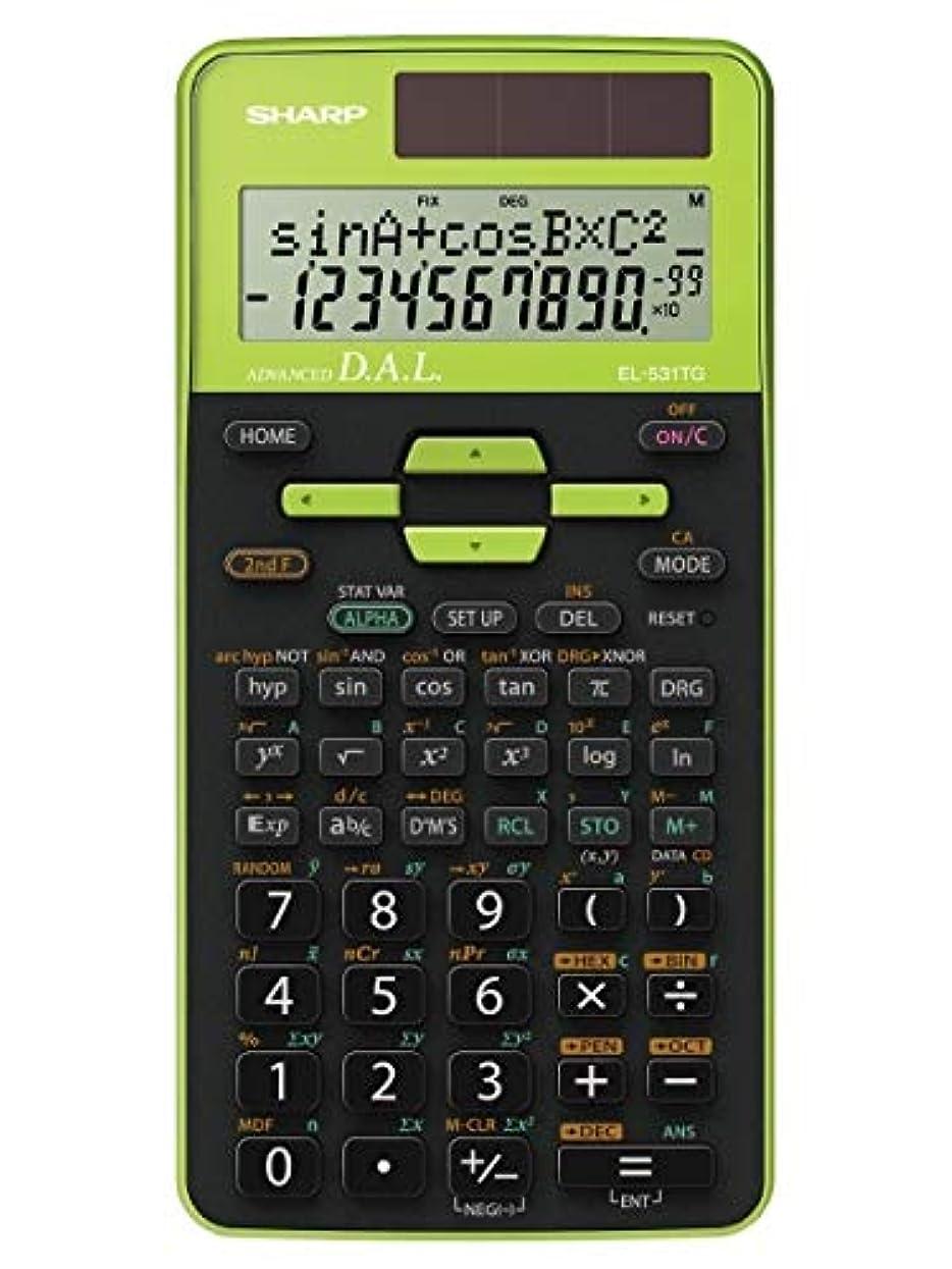 エコー生む分析シャープ EL-531TG-GR 関数電卓 ブラック/グリーン