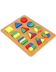 Geometrie Vorm Cognitiebord Zeer simulatie Speciaal ontwerp Heldere kleuren Vorm Cognitiebord, Duurzaam voor spelende kinderen(Geometric shape recognition board)