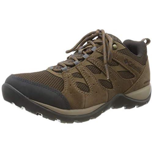 Columbia REDMOND V2, Scarpe da hiking impermeabili, Donna, Marrone/Blu (Espresso MHW, Deep Ocean), 36 EU