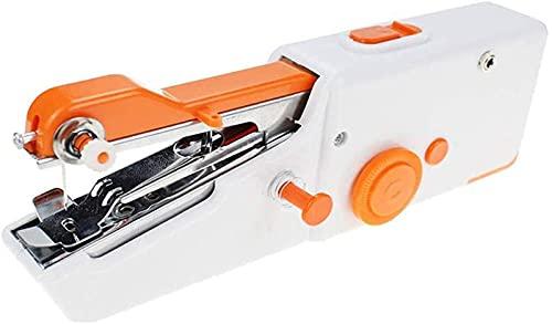 Máquina de coser de mano, mini máquina de coser, pequeñas y convenientes soluciones rápidas para principiantes USB que se aplican a la cortina de vaquero o adulto de cuero de la máquina de coser, viaj