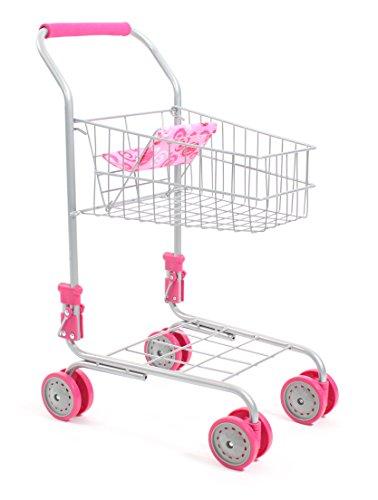 Bayer Chic 2000 760 20 Einkaufswagen aus Metall mit integriertem Puppensitz, tolle Ergänzung zum Kaufladen