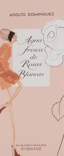Adolfo Dominguez Agua Fresca de Rosas Blancas Eau de Toilette 4.1oz (120ml)