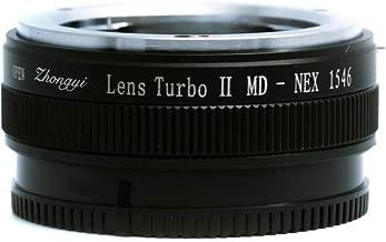 Zhongyi MD-NEX Lens Turbo Adapter II Mark 2 Minolta Mount for Sony NEX Camera (Black)