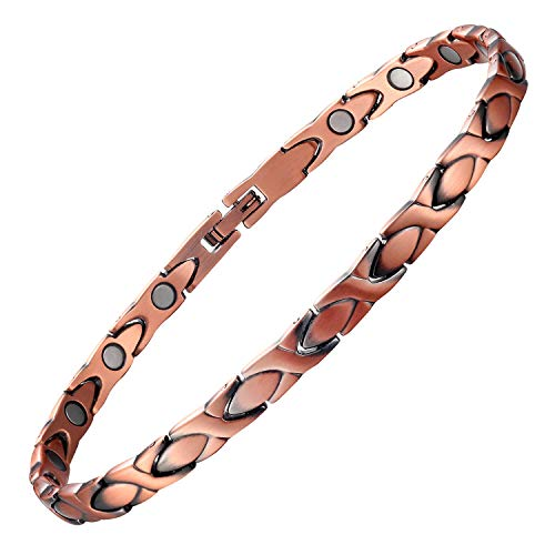Magnetic Therapy Copper Bracelet Anklet for Women 10inches Adjustable