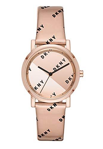 DKNY Damen-Uhren Analog Quarz One Size Rosé Leder 32002050