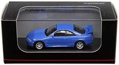 NEW DIECAST TOYS CAR KYOSHO 1:64 NISSAN SKYLINE GT-R BCNR33 BLUE KS07047A6