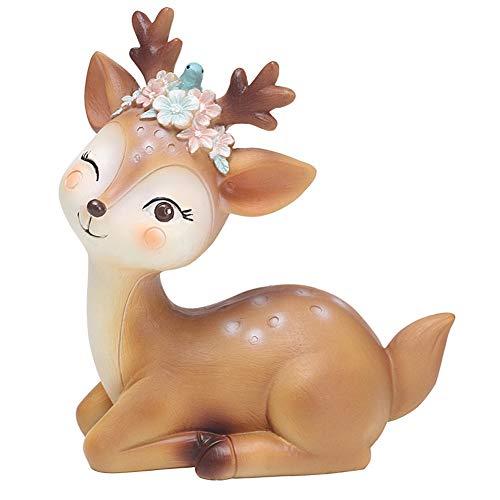 Comtervi Kitz Figur, Dekorative Ornamente, Figur Deko REH Kitz Miniatur 3D Bambi, Tierfiguren