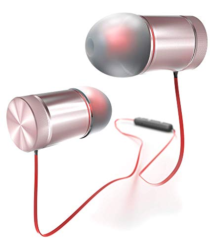 NeoSimply Wireless Headphones - Red -Perfect for Smart Phones, Tablets, Laptops - Bluetooth 4.1 Magnetic Earbuds - Best for Office, Home, Safe Car Driving, Enjoying Music, All Sports, Clear Talk