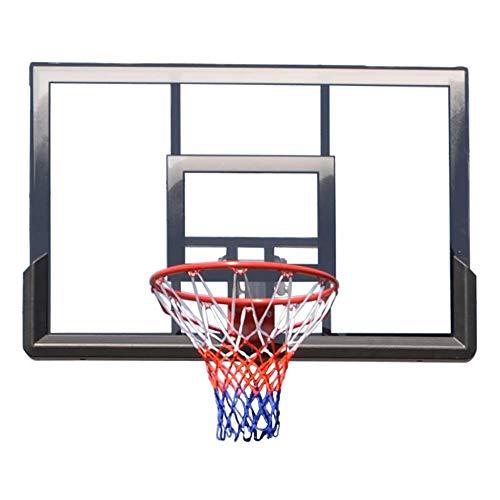 SUON Objetivo De Llantas De Baloncesto Colgando Canasta De Baloncesto Adulto Montado En La Pared Sólido Tablero De Baloncesto Movimiento Al Aire Libre El 112x81cm