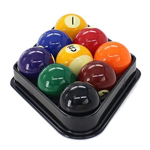 JRPT 9-Ball Diamond Rack Plástico,Triángulo de Billar 18 cm de largo y 3 cm de alto, fácil de limpiar. Conveniencia/Negro / 18×3cm