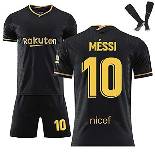 LISI Camiseta de Futbol para Hombre y Niños, FC Barcelona Messi Replica con Pantalón y Calcetín 100% Poliéster 1ª EQ Temporada 2020-21,C,20