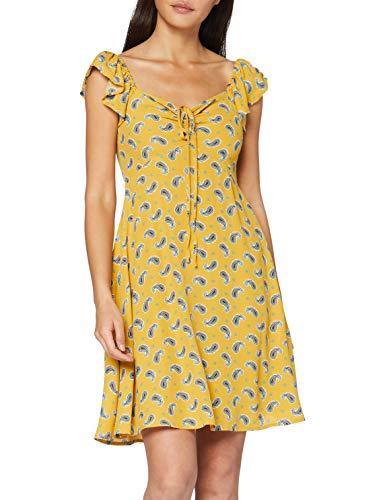 Springfield Corto Amebas-c/04 Vestido de Fiesta, Amarillo (Yellow 4), 42 (Tamaño del Fabricante: 42) para Mujer