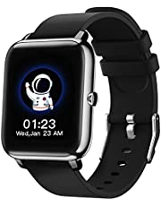 Smart Watch, 1,4-inch smartwatch met touchscreen, fitnesstracker met hartslagmeter, slaapmonitor, Bluetooth-camera Muziekbediening Smartwatch voor mannen en vrouwen