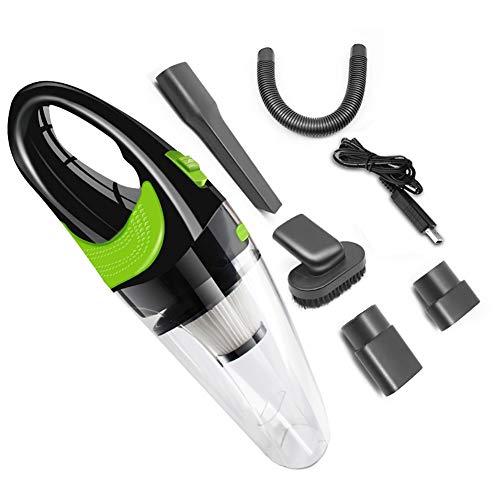 Aspirador de Mano inalámbrico para automóvil, Limpiador portátil ciclónico para automóvil húmedo/seco de 120 W inalámbrico para el hogar/Mascotas/automóvil