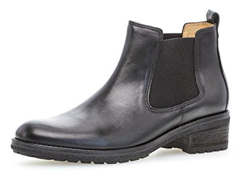 Gabor Damen Chelsea Boots 91.610,Frauen Stiefel,Halbstiefel,Stiefelette,Bootie,Schlupfstiefel,hoch,Blockabsatz 3cm,F Weite (Normal),schwarz,UK 6