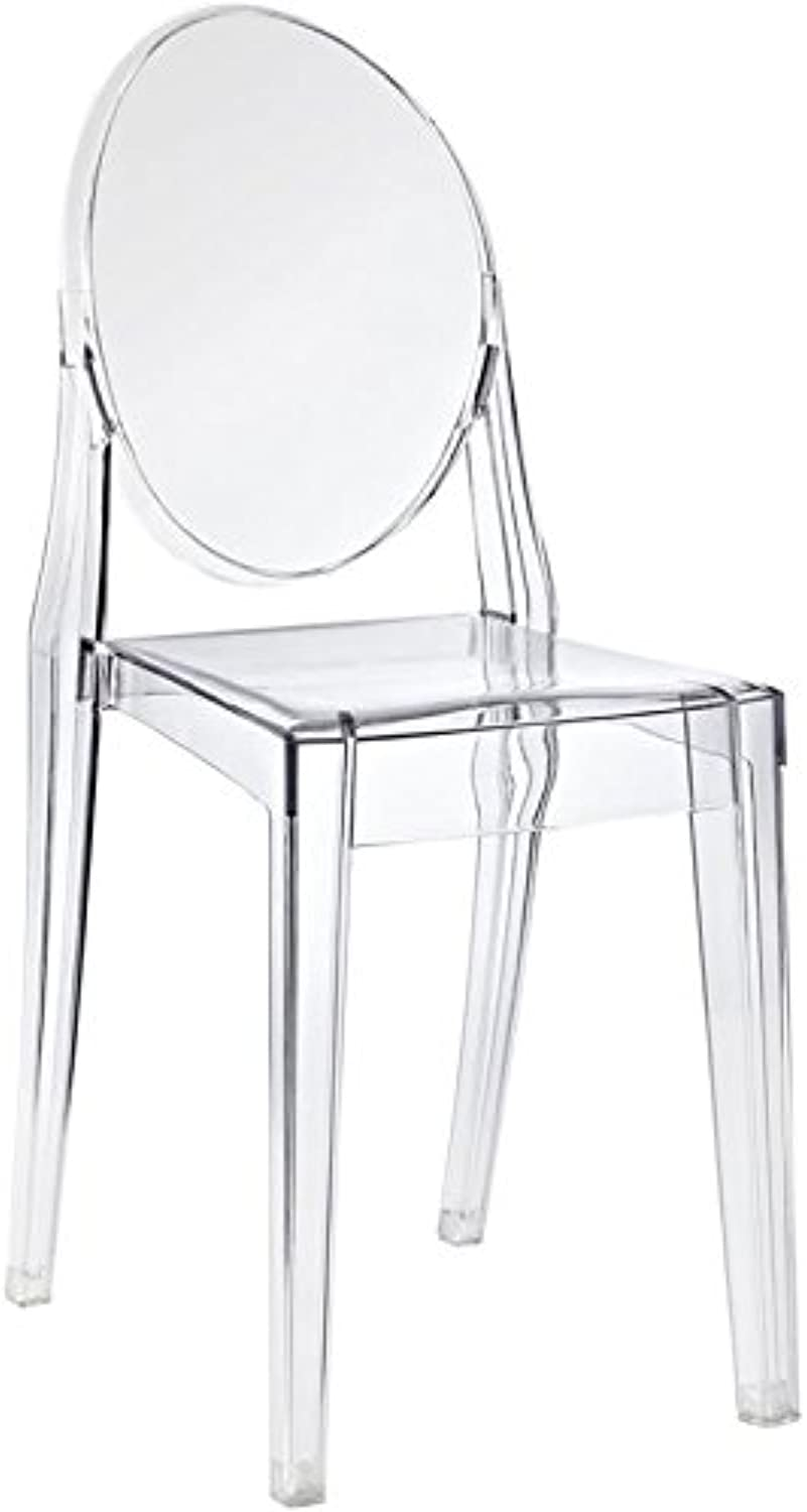 Hawthorne Collections Clear Dining Side Chair