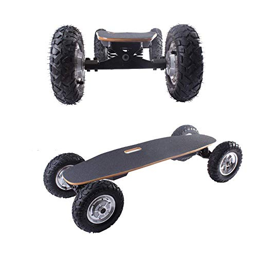 Liujie Off-Road Pro Elektrische skateboard, 4 wielen, afstandsbediening, elektrische scooter, 2 snelheidsmodi, 800 W, dubbele motor, maximale snelheid 40 km/u.