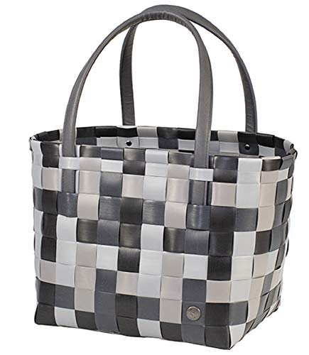 Handed By Shopper COLOR BLOCK black mix Mix Tasche Korb geflochten Schulter Öko