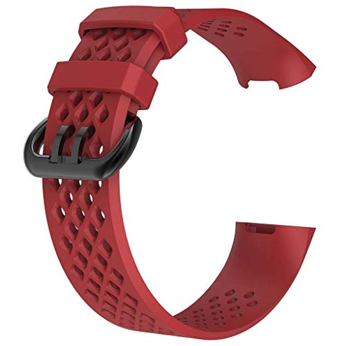 DALIN Für Fitbit Charge 3/3SE/4/4SE Smartwatch-Armband, Silikonband.