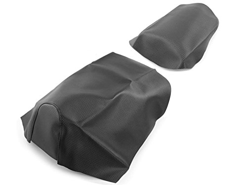 Sitzbezug + Beifahrer Sitzbankbezug (Set!/Carbon-Look) Aprilia SR 50 (alle Bj. 1997-2005, z.B. Sport, Di-Tech, Street, Racing, Funmaster, Stealth, www, Replica)