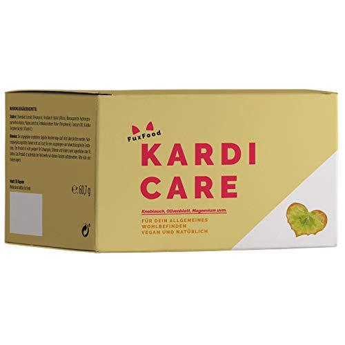 KardiCare- Die natürliche Alternative mit Knoblauch, Olivenblatt, Q10, usw. | 120 vegane Kapseln | Pflanzenkraft anstatt Chemiekeule | 6 hochwertige und abgestimmte Zutaten | 30-Tage-Paket