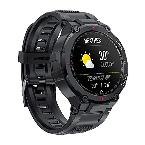 BATQER Smartwatch, Braccialetto per Chiamate Intelligenti IPS da 1,28 Pollici, Monitoraggio della Pressione Sanguigna, Monitoraggio Dell ossigeno nel Sangue, Chiamata Bluetooth,A