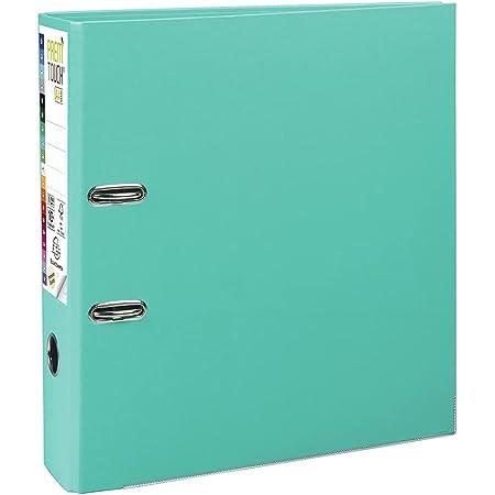 Exacompta - Réf. 53303E - 1 classeur à levier A4 MAXI Prem'Touch - Dos de 80 mm - Mécanique 80 mm - Dimensions extérieures : 32 x 30 x 8 cm - Format à classer A4 Maxi - Coloris : Vert clair