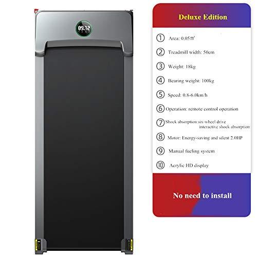 YDME Velocidad Ajustable Caminadoras De Electrica Hogar Plegables Cintas De Correr Inteligente Silencioso Máquina De Correr Pantalla LCD para Calorías Hora EtcFlat 125x10x50cm(49x4x20inch)